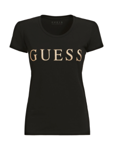 T-SHIRT DAMSKI GUESS CZARNY STRETCH