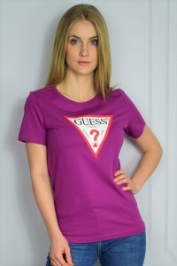 T-SHIRT DAMSKI GUESS PURPUROWY
